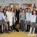 Майстер-клас з вишивки в Новопечерській школі від Галини Олещук